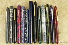 Edison Pens, from left: Herald, Stilwell, Pearl, Huron, Glenmont, Mina, Huron Grande, Herald Grande, Morgan, Collier, Hudson, Premiere
