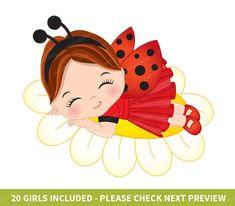 Cartoon Clip, Cartoon Girl Images, Girl Cartoon, Girl Clipart, Cute Clipart, Buddha Doodle, Ladybug Girl, Baby Avengers, Baby Posters