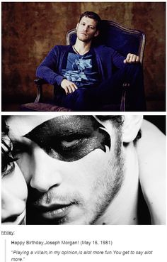 Happy Birthday to the man that plays the vampire we love to hate <3 Joseph Morgan 5/16/81