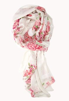 Tea Rose Scarf | FOREVER21 Roses are red, violets are blue, this scarf will look great on you! #Accessories #Floral #Scarf