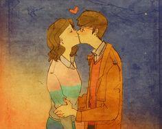 Liebe ist, wenn er dich küsst, wenn du es am wenigsten erwartest.