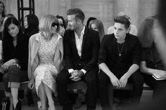 Anna Wintour, David Beckham and Brooklyn Beckham front row for Victoria Beckham Spring/Summer 2015