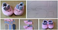 Free Pattern for baby slippers. Baby Sandals, Baby Booties, Baby Shoes, Felt Crafts Diy, Diy Crafts For Kids, Baby Hamper, Diy Bebe, Baby Slippers, Shoe Pattern