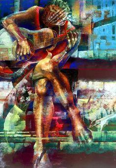 Paul Goodnight Art | FemaleGuitar