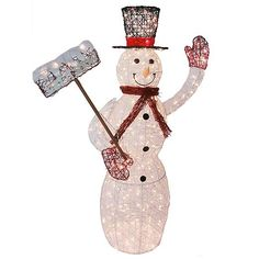Lighted Vine Snowman Outdoor Christmas Decoration, 5 ft