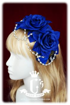 + Cici Everything is hand-made house + Lolita Red x 2 colors blue suede hair band hair accessories KC-Taobao