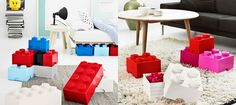 Fun way to store your kids Lego - in a giant Lego brick! Large brick costs $40.