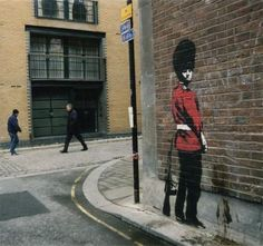 Would walk a mile to see the original Banksy style.