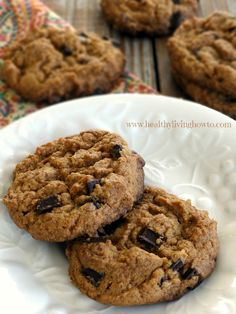 #Healthy Recipe: Almond Butter Chocolate Chip Cookies #lowcarb #dairyfree #glutenfree
