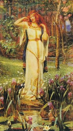 """Fricka, sometimes known as Frigg, the wife of Odin and she who spins """"the golden thread of destiny"""""""