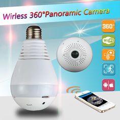 960P 360 degree Wireless IP Camera Bulb Light FishEye Smart Home CCTV 3D VR Camera 1.3MP Home Security WiFi Camera Panoramic  EUR 21.99  Meer informatie  http://ift.tt/2zOtAls #aliexpress