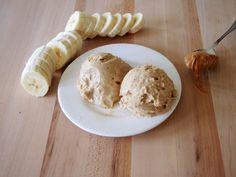 Healthy Peanut Butter Banana Ice Cream
