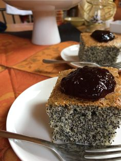 Hungarian Desserts, Cherry Cake, Sweet Cakes, Sweet Desserts, Caramel, Good Food, Pudding, Sweets, Poppy