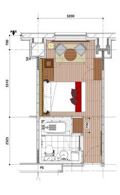 The Royal Park Hotel Tokyo Shiodome Concept Floor Coordinated by The Conran Shop Master Bedroom Plans, Master Room, Master Bedroom Design, Best House Plans, House Floor Plans, Hotel Floor Plan, Hotel Room Design, Royal Park, Container House Plans