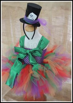 Mad Hatter tutu Costume tutu costume by Gurliglam on Etsy, $58.00