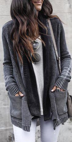 Beige Pockets Collarless Dolman Sleeve Casual Cardigan Sweater