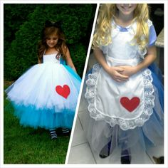 I chose the outfit on the left to be the outfit of Alice. Although in the picture it does show it is a child's costume doesn't mean we can make it into a adult's costume.