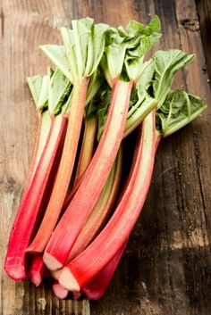 Cooking With Rhubarb: The bright red stalks are the edible part of rhubarb, and they're loaded with nutrients. Cut off the leaves, trim the base of the stalk, and chop the rhubarb into small pieces, as you would with celery.
