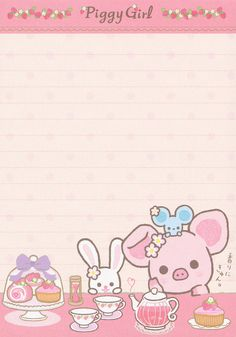 "San-X Piggy Girl ""Sweets"" Memo"