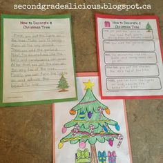 How to decorate a Christmas tree procedural writing from secondgradedelicious blog