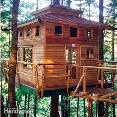 Tree House – Building Tips I wanted one of these so bad as a kid! Would make a nice guest house off site of my log cabin. Home Building Tips, Building A Pergola, Building A House, Build House, Building Ideas, Pergola Plans, Building A Treehouse, Pergola Kits, Green Building