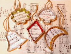 Repurposed Cookie Cutter Ornaments