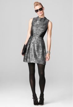 Milly CLEO FUNNELNECK DRESS Holiday Fashion, Autumn Fashion, Holiday Style, Cute Dresses, Dresses For Work, Dress Outfits, Dress Up, Contemporary Fashion, Ladies Dress Design