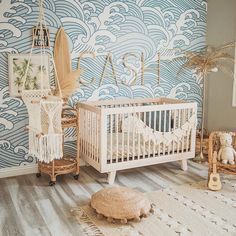 Surf Nursery, Ocean Themed Nursery, Nursery Room Decor, Project Nursery, Coastal Nursery, Elephant Nursery, Nursery Boy, Nursery Ideas, Baby Nursery Themes