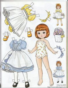Tiny Betsy McCall paper doll by Siyi Lin by atrikaa, via Flickr: