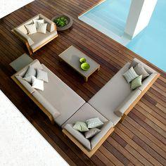 #bordo #piscina con #salotto di #Tribù - #Neò Natura su misura #Garden design e #showroom | Showroom