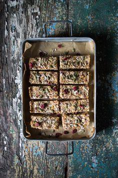 Quinoa, fruit & nut bars (He Needs Food)