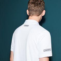 797fa90ca9ab5 Lacoste Men s Polo X Novak Djokovic - Exclusive Edition Navy Blue Mexico  Red-Ocea
