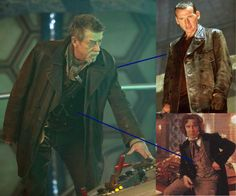 """Is John Hurt's Doctor wearing 9's jacket with 8's clothes underneath?"" (looks a bit different than 9's jacket. Longer)"