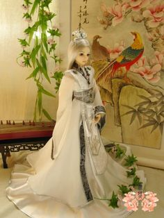 Customize 1/3 1/4 BJD SD Chinese Ancient Costume Outfit Deluxe Doll Dress-Yunlong