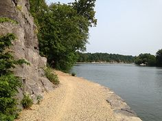 C&O Canal towpath winding near the Potomac River