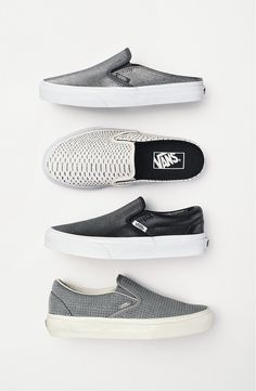Cool, casual, and stylish! A classic Vans slip-on is given a trend-right update in a mule silhouette for a look that will instantly amp up any look.