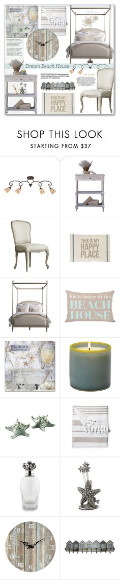 """""""Vacation Vibes - Dream Beach House: 04/05/17"""" by pinky-chocolatte ❤ liked on Polyvore featuring interior, interiors, interior design, home, home decor, interior decorating, Quoizel, Primitives By Kathy, Trademark Fine Art and LAFCO"""