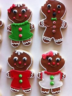 gingerbread family cookies | to order contact me at www.hayl… | Flickr Gingerbread Cookies, Biscuits, Sugar, Desserts, Christmas, Food, Cakes, Decorating, Art