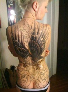 Wings Tattoo Design: Full Body Eagle Wings Tattoo Design For Women ~ Cvcaz Tattoo Art Ideas ~ Tattoo Design Inspiration