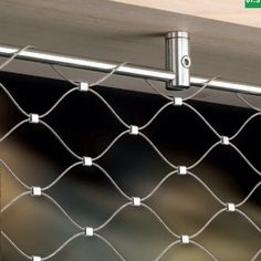 Stainless steel rope net's detail: the structures of the stainless steel wire cable have two kinds: 7 x 7 and 7 x The standard stainless steel wire cable diameter includes Loft Railing, Stair Railing, Railings, Detail Architecture, Mesh Fencing, Bridge Design, Stainless Steel Cable, Interior Stairs, Childproofing