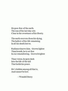 wendell berry poetry wendell berry poem and mary  wendell berry