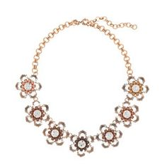 Black and white bloom necklace by J. Crew