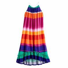 Chaps Watercolor Striped Maxi Dress - Girls 7-16 #Kohls