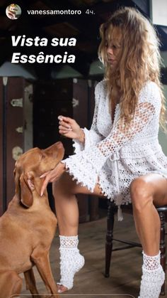 Vanessa Montoro, White Dress, Lace, Tops, Dresses, Women, Fashion, Vestidos, Moda