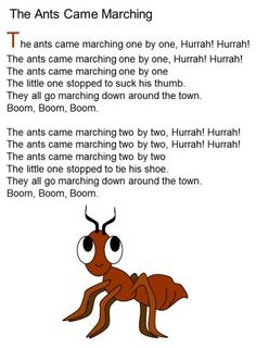 The ANts came marching song lyrics