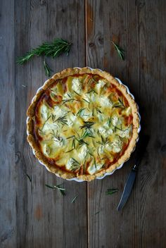 Potato, Chèvre and Rosemary Tart ° eat in my kitchen