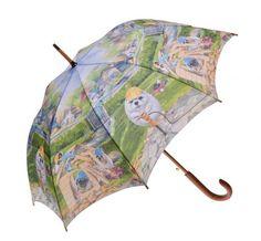 Clifton Wood Automatic Open Long Dog House  Funny Dog Umbrella
