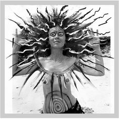 Mary Beth Edelson, a crazy, awesome, feminist artist. Hippie Man, Different Kinds Of Art, Laurel Canyon, Old Photography, Images And Words, Sacred Feminine, Feminist Art, Art Google, Mother Earth