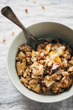 Coconut Oil Apple Crisp #healthy #dessert #recipe #vegan #coconut #apple #crumble
