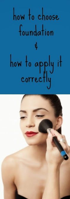 Not sure how to choose a foundation?  Need help applying it?  Look no further!
